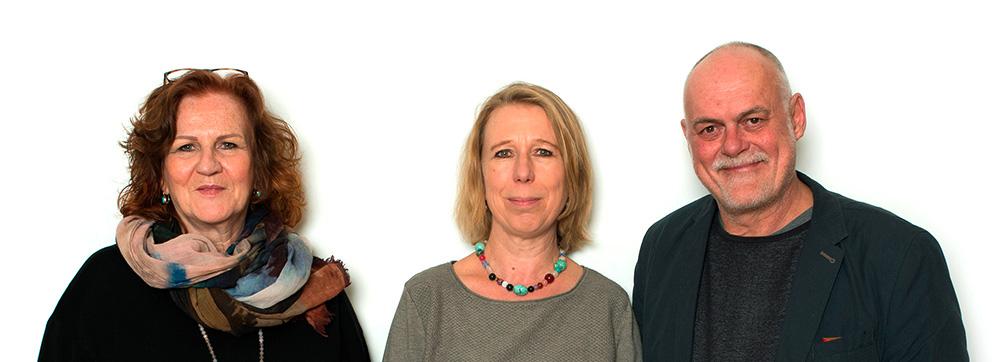 Vorstand BIF Josie Weiland, Regina Riedel, Martin Gruber Portrait